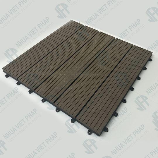 vỉ sàn ngoài trời nhựa composite đen